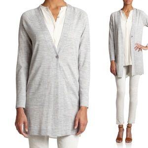 Eileen Fisher Merino Wool Long Line Cardigan sz M